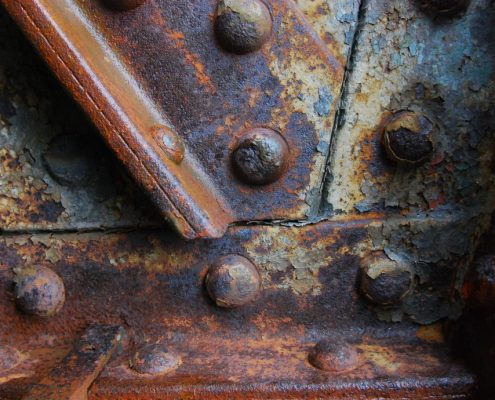 Steel without anti rust paint for metal rusts