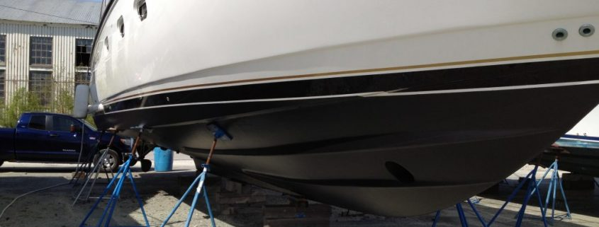 Antifouling on a fiberglass boat hull