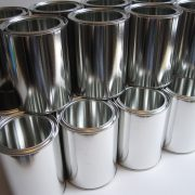 chemical resistant packaging coating in metal paint can