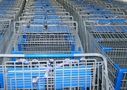 shopping carts for buying powder coating