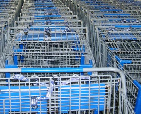 shopping carts for buying powder coating